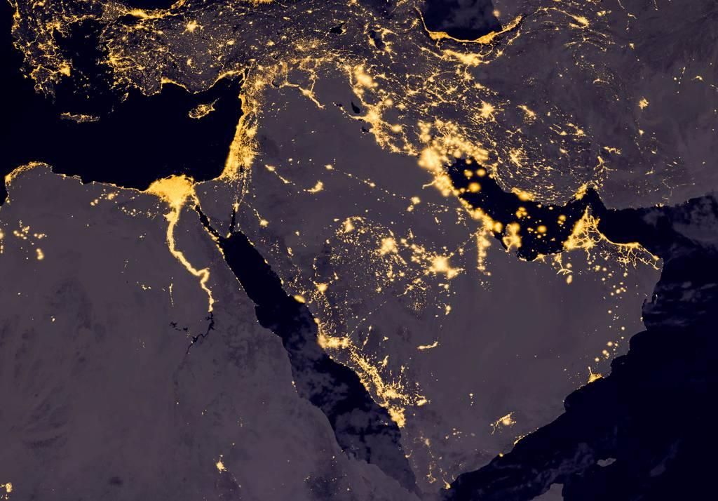 Gulf region from space