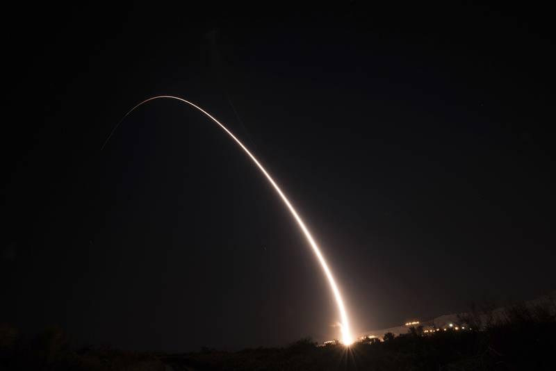 Minuteman III intercontinental ballistic missile test