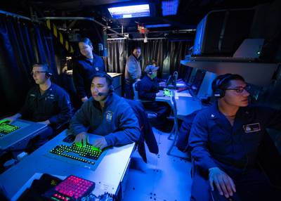 Navy command and control exercise